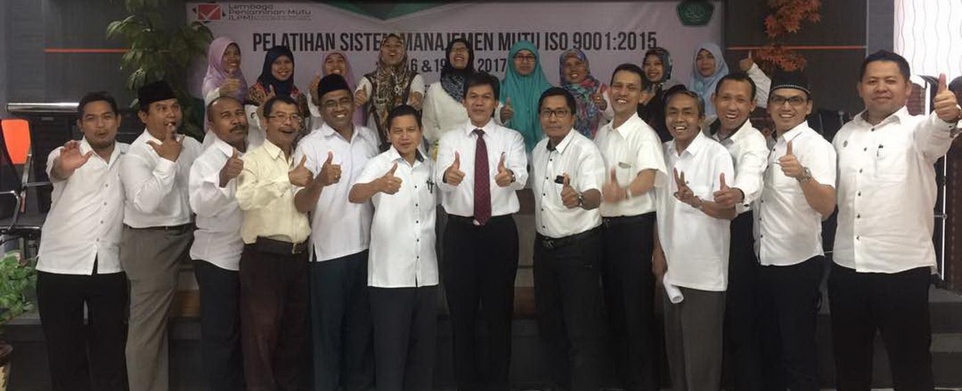 UIN Maulana Malik Ibrahim Malang Mengadakan Pelatihan SMM ISO 9001:2015 untuk Para Kabag dan Kasubbag